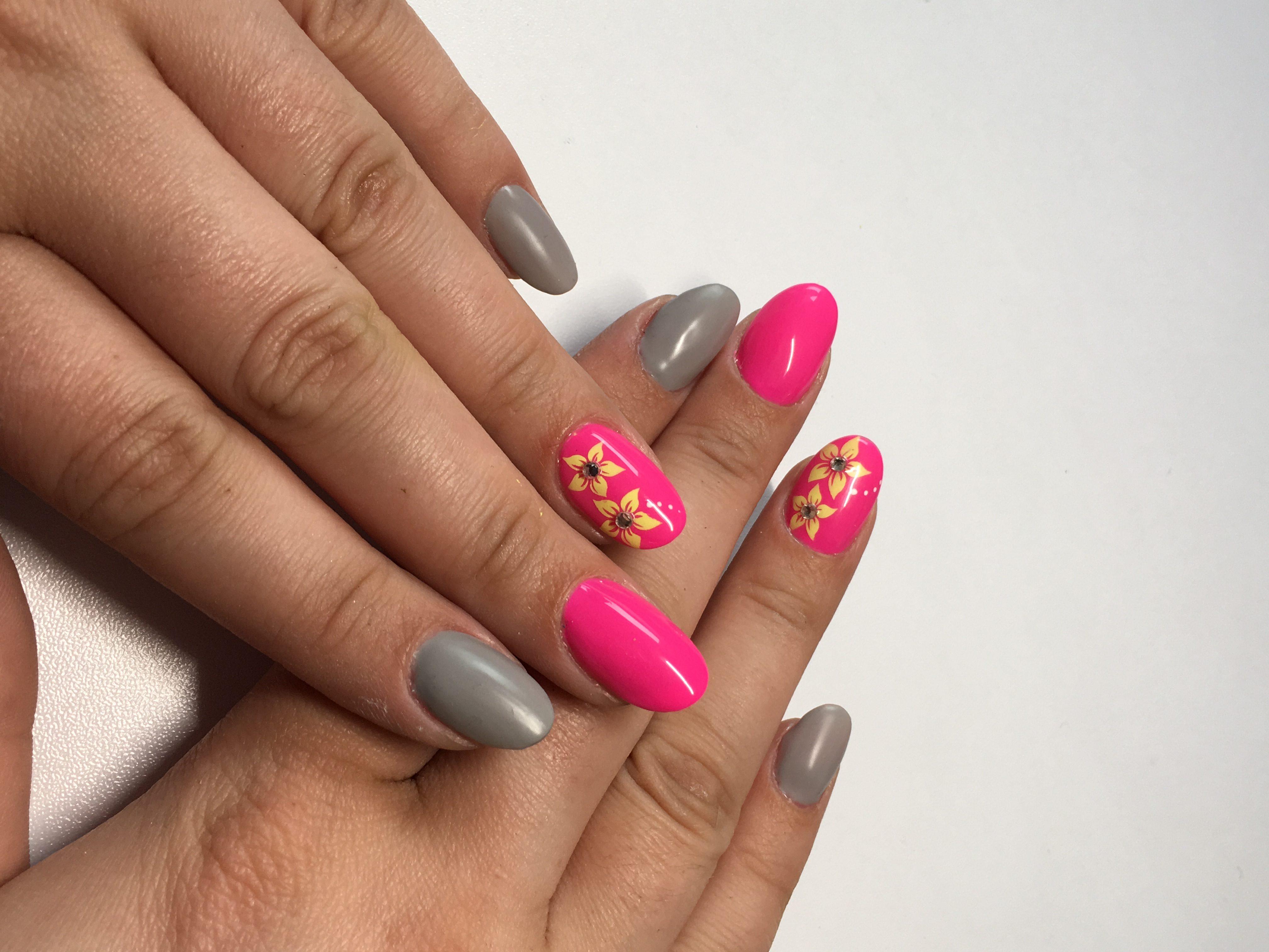 Fullcover in 2 Farben mit airbrush design. Pink, Neona und Grau